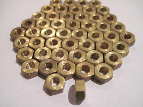 pack de 50. 4BA laiton écrou hexagonal