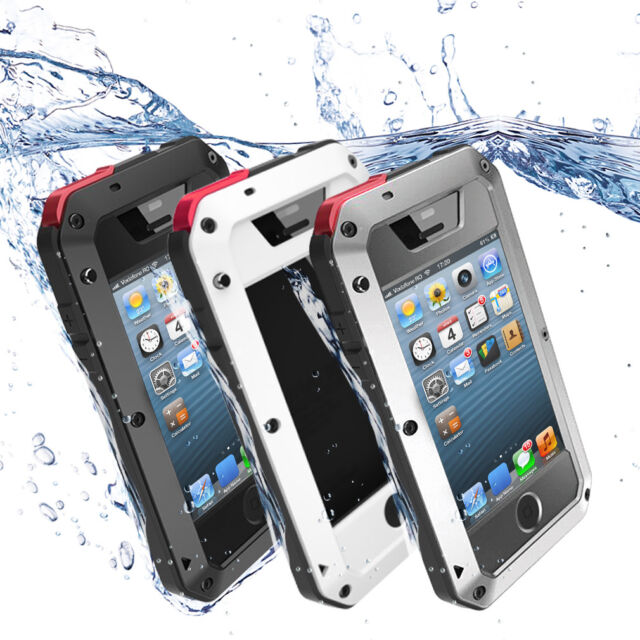 iPhone 6s/6Plus/6/5s/5/4s/4 Metall Wasserdicht Handy Tasche Schutz Hülle Case