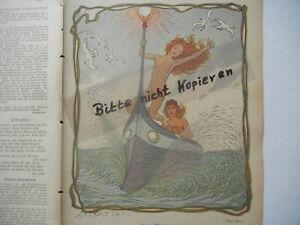 FleißIg Original Blatt Aus Der Zeitschrift Jugend 1909 Ad b185 Fjaestad Gust