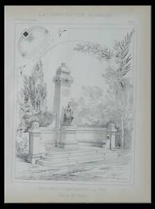 LE PUY EN VELAY, MONUMENT COMMEMORATIF - 1896 - PLANCHE ARCHITECTURE