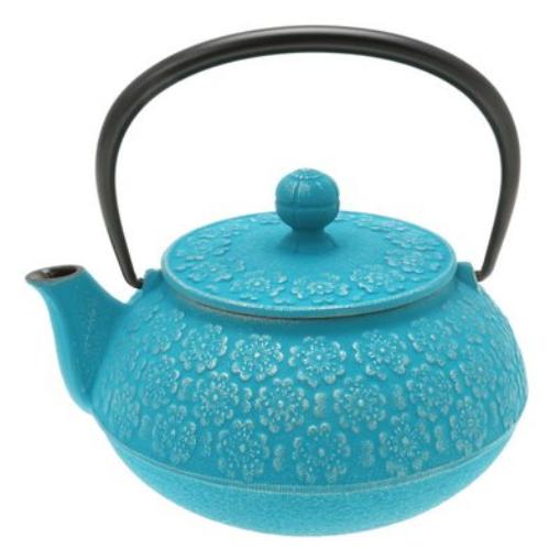 Iwachu 480-944 japonais fonte Tetsubin théière, Turquoise