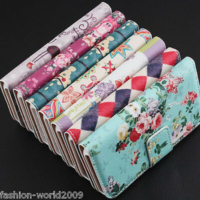 Vintage Floral Leather Case Cover Flip Fold Stand For Samsung Galaxy Note 3 2