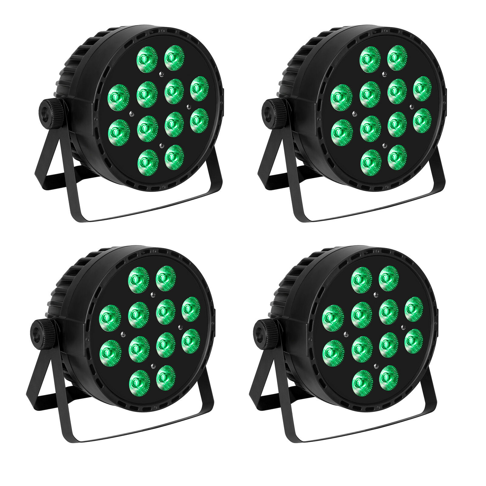 4x DJ Stage Par Can Uplighting 1210W RGBW LED DMX512 color Mixing Wall Washer