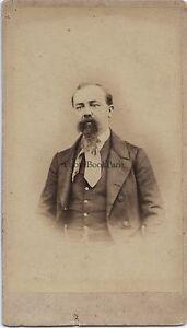 Ritratto Un Uomo Da Chuizoli Italia Francia Suisse CDV Vintage Ca 1865