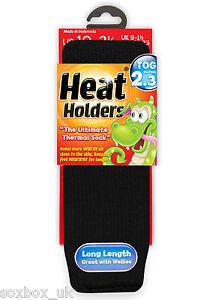 Childrens-Thermal-Heat-Holder-Socks-size-9-1-Uk-27-33-Eur-9-5-2-us-Black