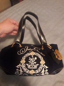 factory authentic reliable quality online shop Details about Black Velour Medium Size Juicy Couture Handbag