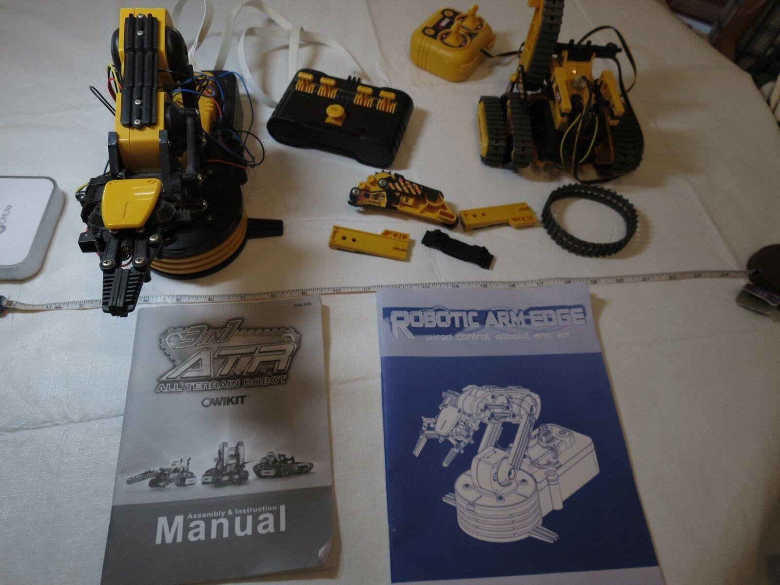 Brazo robótico-Edge Brazo De Control Con Cable Kit de 3 en 1 ATR Todo Terreno Robot owikit Lote