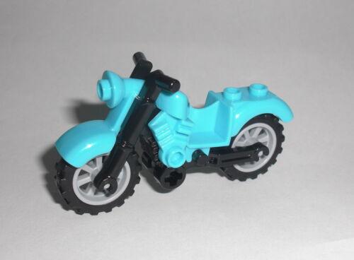 Motorrad Vintage azur blau LEGO City Motorbike Motorcycle Chopper Bike Figur