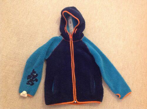 Kozi Kidz Blue Turquoise /& Orange Hooded Fleece Jacket