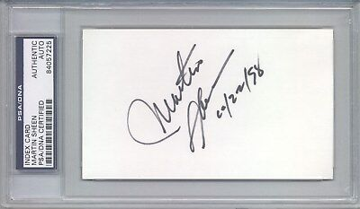 Cards & Papers Responsible Martin Sheen Autograph Index Card Psa/dna Entertainment Memorabilia