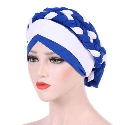 Muslim Women Hijab Turban Hat Braid Bonnet Cancer Chemo Cap Headwear Bandanas