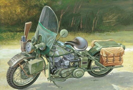 Italeri 7401 wla 750 americano motocicletta plastica kit scala tracciabile 1  9