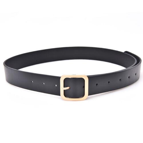 Fashion Women Girls Belts Leather Square Metal Pin Buckle Waist Belt WaistbandYE