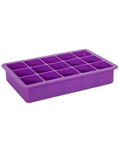 Make 30 Cubes! Elbee Coolest 15-Cube Silicone Ice Tray 2-Piece Mold Set