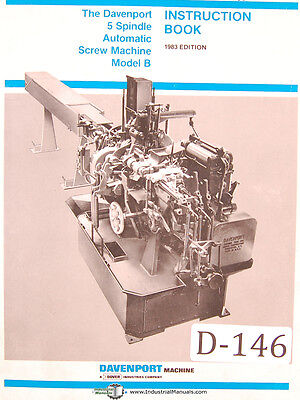 Operations Manual 1983 5 Spindle Screw Machine Davenport Model B