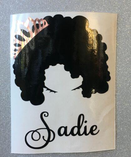 Details about  /Afro Queen Sticker Decal Custom Phone Natural Hair Mug Princess