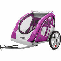 Bike Trailer Berry Instep 2 Seat Child Bicycle Carrier Stroller Cart Folding