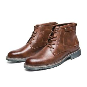 mens lace up formal dress ankle boots business casual