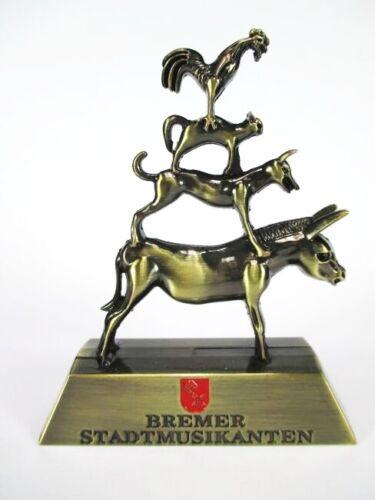 Bremen Bremer Stadtmusikanten Souvenir Metall Modell 11 cm,Germany,Neu !