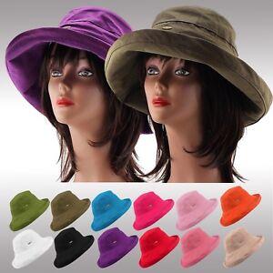 7b565341148 Premium Quality Women s Cotton Floppy Summer Hat Wide Brim Crushable ...
