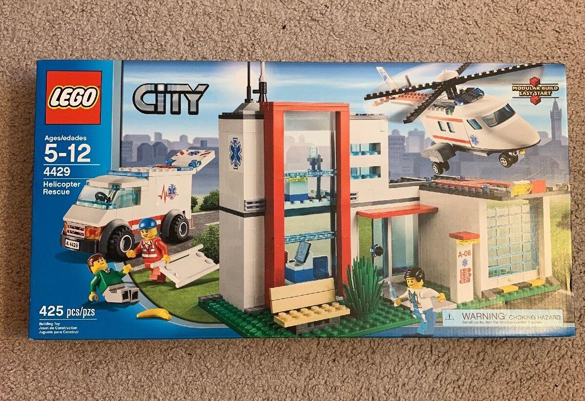 LEGO  città 4429  Helicopter Rescue   nuovo In Factory-Sealed scatola NIB (Retirosso Set)  all'ingrosso economico e di alta qualità