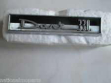 "Mopar ""NOS"" 1962 Dodge Dart 330 Glove Box Emblem Name Plate 2292220"