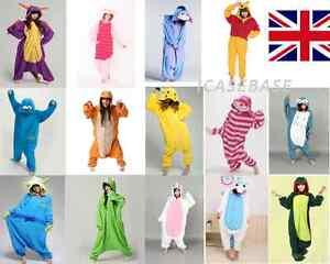 Cosplay-Costume-Animal-Onesie11-Kigurumi-Pyjamas-Fleece-Romper-Fancy-Dress-UK
