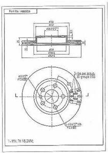 Disque-de-Frein-2-Pieces-pour-Citroen-Evasion-Jumpy-Fiat-Scudo-806-Expert