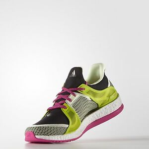 2945c3974d41 Adidas Pure Boost X Training Running Shoes (AQ5221) Black Shock Pink ...