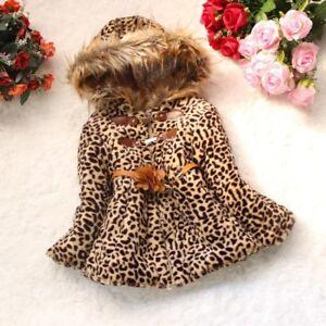 Toddler-Kids-Baby-Girls-Warm-outerwear-leopard-print-coat-Newborn-Winter-Clothes