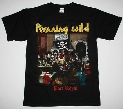 RUNNING WILD PORT ROYAL'88 X-WILD GRAVE DIGGER RAGE HELLOWEEN NEW BLACK T-SHIRT