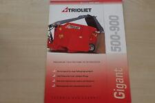 158995) Trioliet Futtermischwagen Gigant 500 - 900 Prospekt 200?