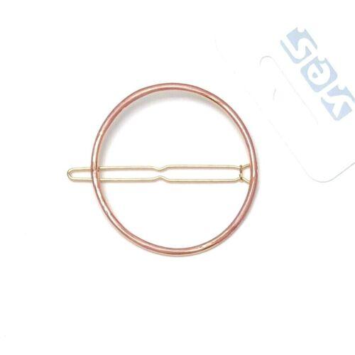 Haarspange Haarklammer Haarklemme altrosa goldfarben rund metall Ø 5,7 cm Solida