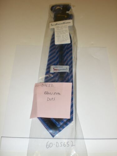"CHILDREN/'S NECK TIE 12/"" 60-DS652 BLUE DOTS ADJ"