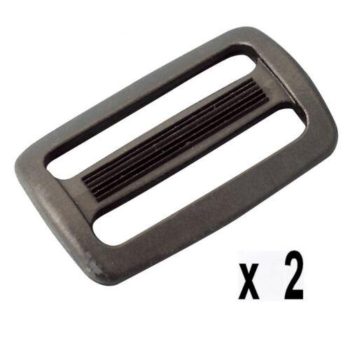 utile 50 mm NOIRS 2 Passants doubles pour sangle larg