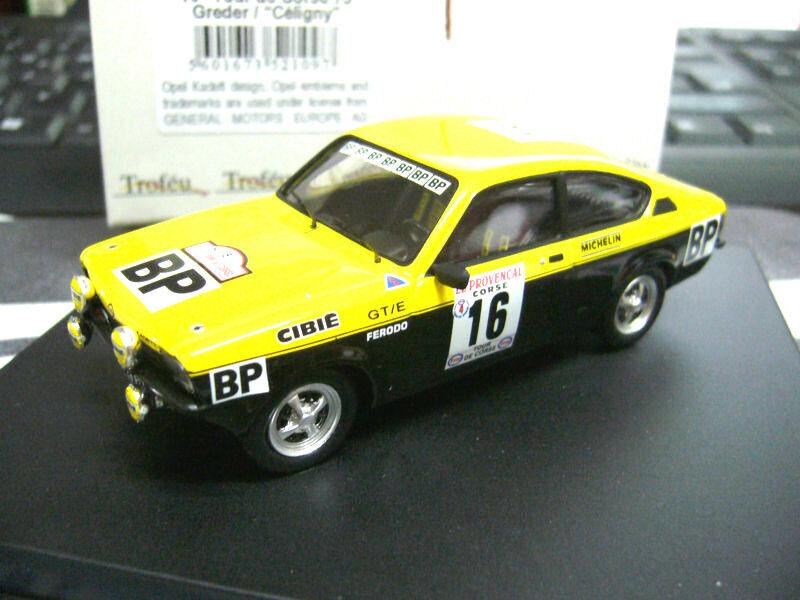 OPEL Kadett C GT E Rallye Tour de Corse Groter BP  16 1975 Trofeu 1 43    Verschiedene aktuelle Designs