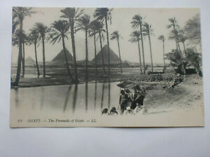 Egypt-Vintage-LL-Postcard-Pyramids-Of-Giza-Levy-Paris-Gizah
