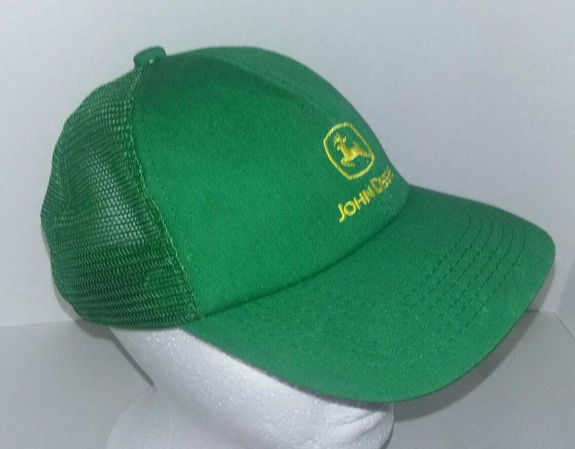 Vtg JOHN DEERE Mesh Snapback K-PRODUCTS Seed/Feed Farmer/Trucker Hat/Cap USA