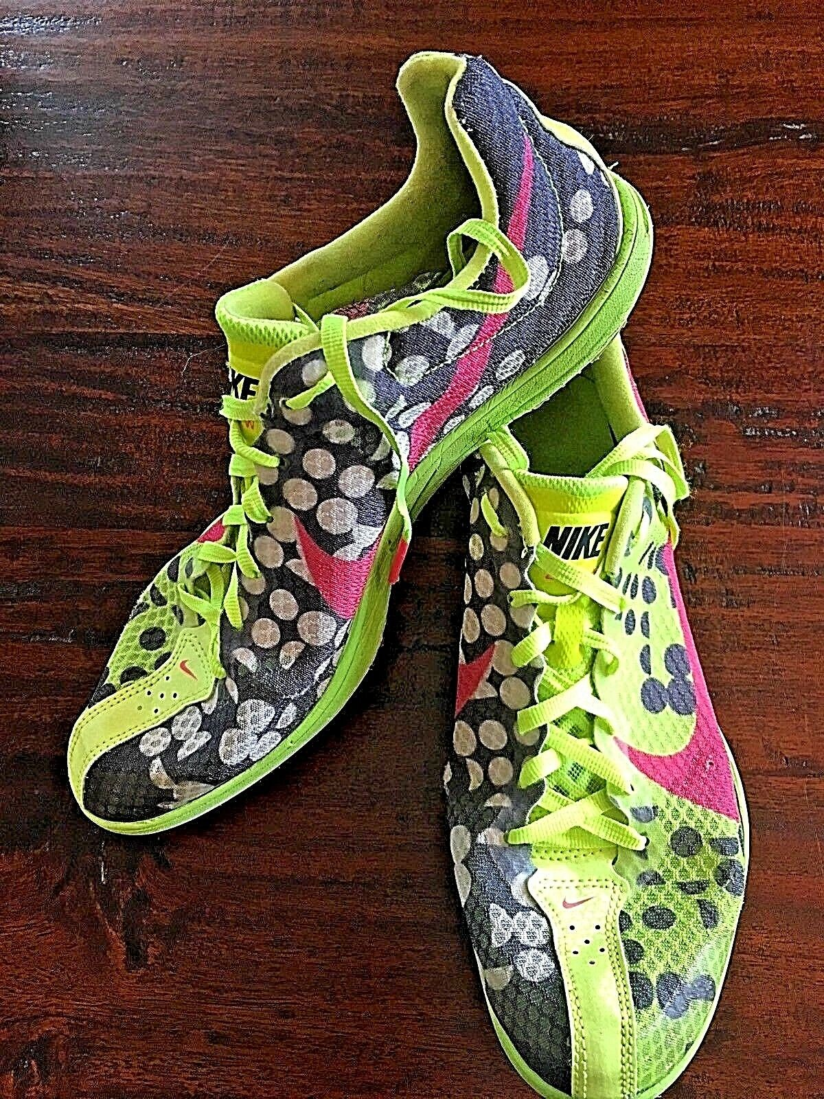 NIKE Zoom W4 Women's Distance Running NEON Track Shoes Style 553074-760 SIZE 8.5 Cheap women's shoes women's shoes
