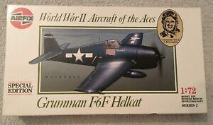 Vintage 1989 Airfix:1:72 Grumman F6F Hellcat WW2 Air Aces