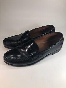 d5c9b5992db Allen Edmonds Walden Black Leather Slip On Penny Loafers Shoes Mens ...