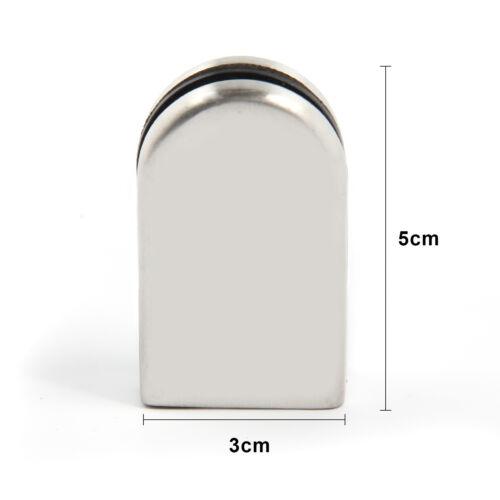 EDELSTAHL Glasklemme Klemmhalter Glasklemmhalter Neu 16x Glashalter