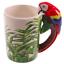 thumbnail 11 - Animal Shaped Handle Ceramic Mug Tea Coffee Cup Novelty Gift Jungle Tropical