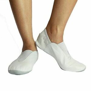 d86137899aeba Details about Danzcue Adult Leather Gymnastic Shoes