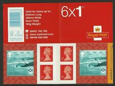 Great Britain 2014 Commonwealth games sport zwemmen pb zelfkleven   POSTFRIS/MNH