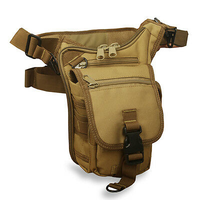 Men's Vintage Military Travel Fanny Waist Leg Pack Bag Shoulder Messenger Bag