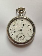1918 Antique Swiss Made ZENITH Scarce Transparent Movement Pocket Watch working