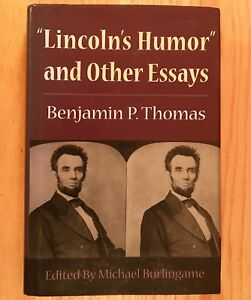 034-LINCOLN-039-S-HUMOR-034-and-Other-Essays-by-Benjamin-P-Thomas-HC-DJ-2002