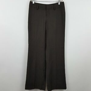 Banana Republic Martin Fit Dark Brown Stripe Women's Dress Pants Sz 2 - 28 x 33