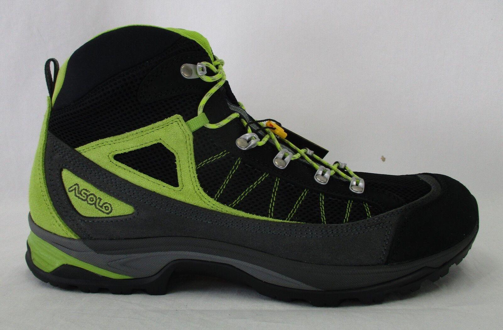 Asolo botas de travesía para hombre Fulton A40018 negro (con verde Lima)